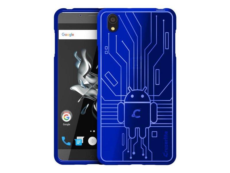 Cruzerlite Bugdroid Circuit Hülle Blau OnePlus X