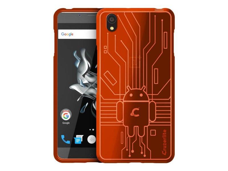 Cruzerlite Bugdroid Circuit Hülle Orange OnePlus X