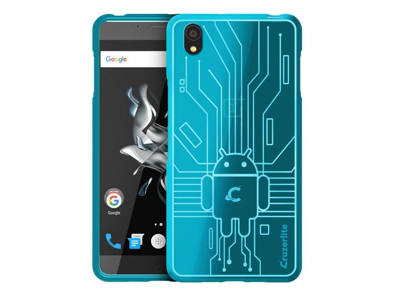 Cruzerlite Bugdroid Circuit Hülle Teal OnePlus X
