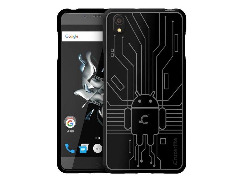 Cruzerlite Bugdroid Circuit Hülle Schwarz OnePlus X