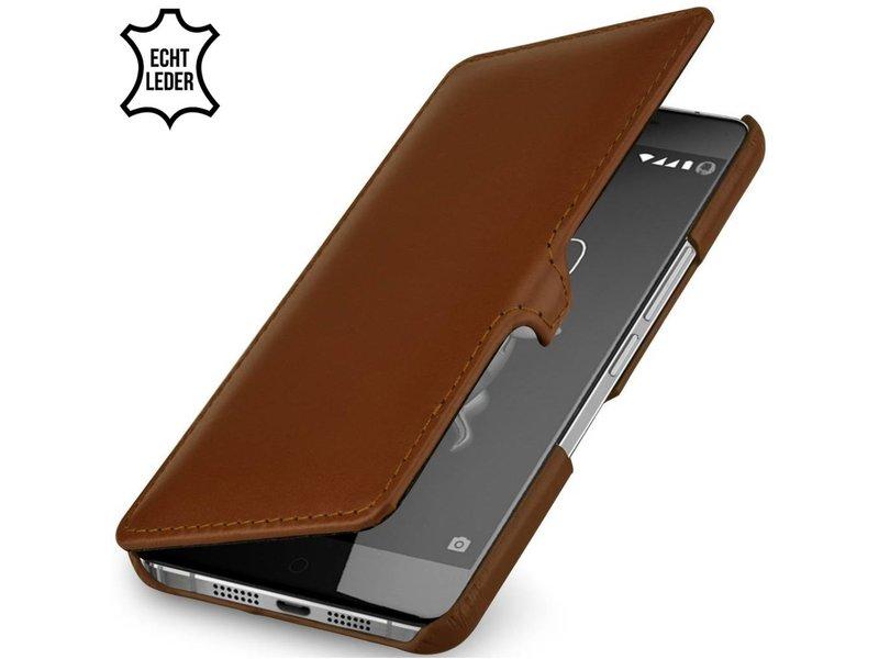 StilGut Handyhülle Book Clip Cognac OnePlus X