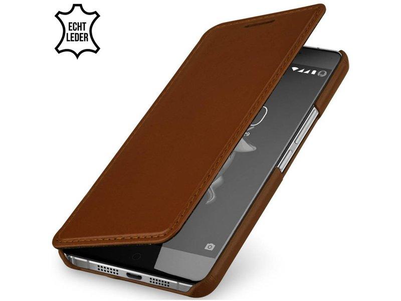 StilGut Handyhülle Book Cognac OnePlus X