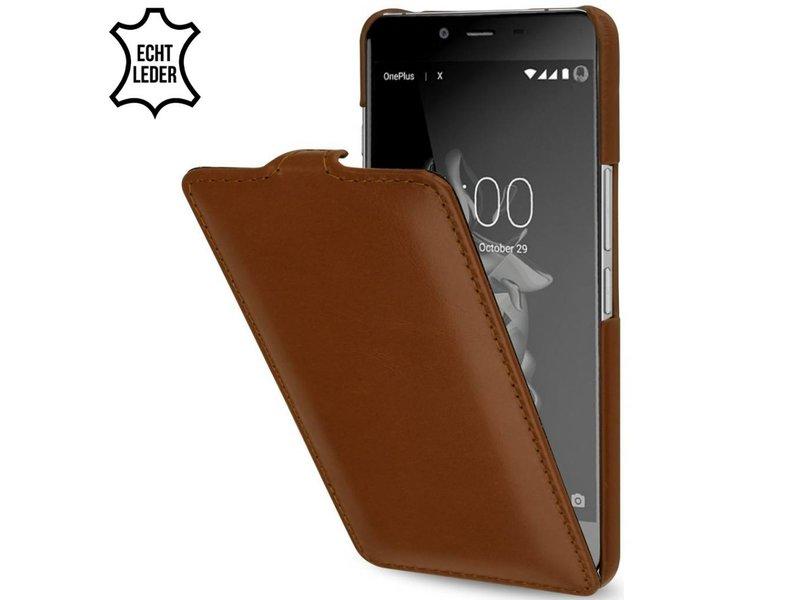 StilGut Handyhülle UltraSlim Cognac OnePlus X