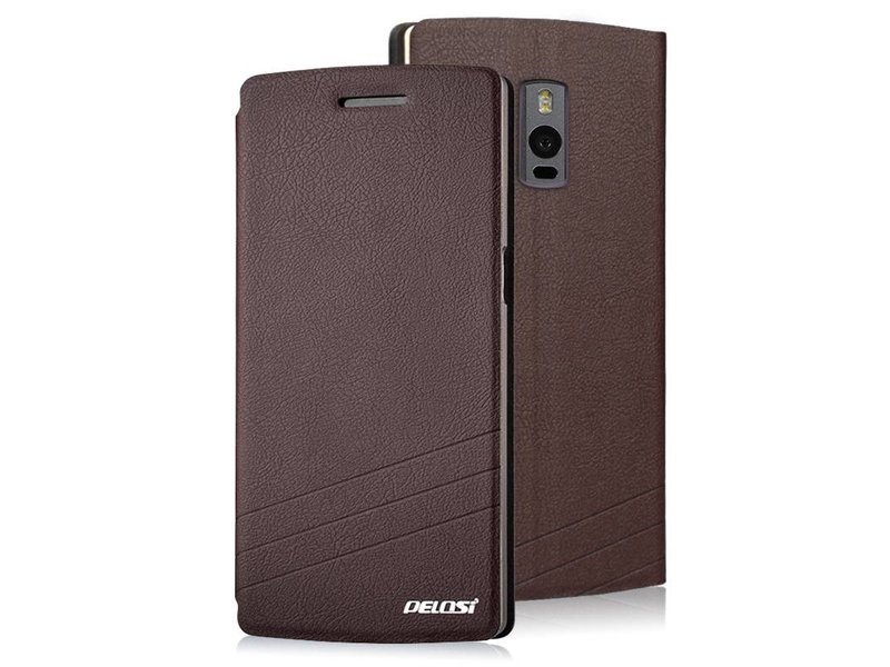 Pelosi Flip Case Braun OnePlus 2