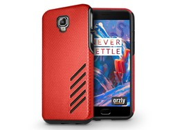 Orzly Grip Pro Case Rot OnePlus 3