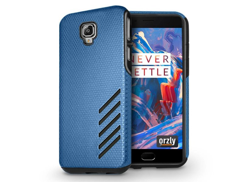 Orzly Grip Pro Case Blau OnePlus 3/3T