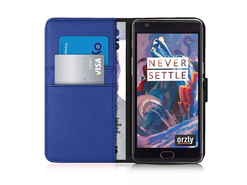 Orzly Wallet Flip Case Blau OnePlus 3/3T