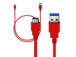 Orzly USB 3.0 Type C Kabel 1M Rot OnePlus 2 / 3