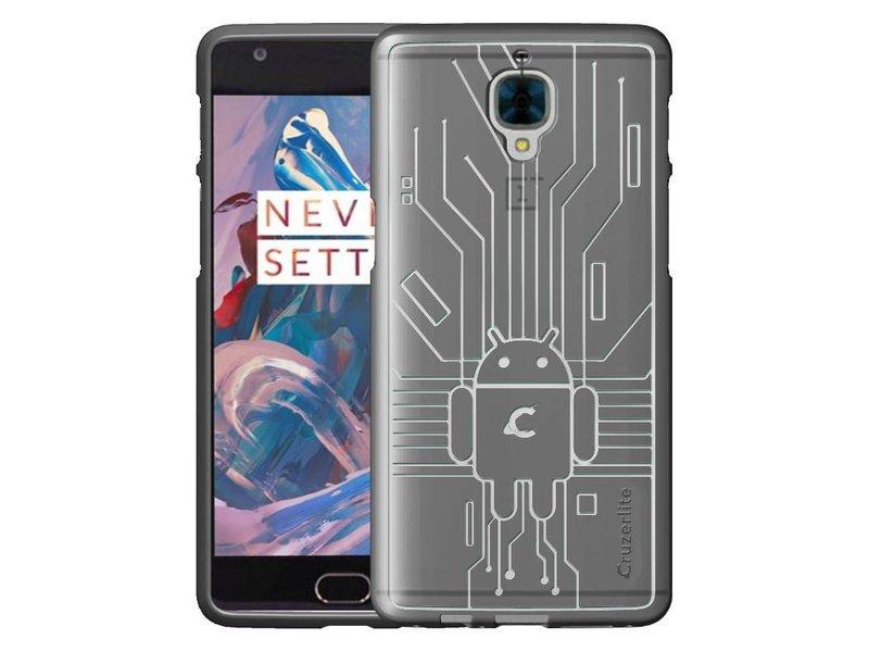Cruzerlite Bugdroid Case Clear OnePlus 3/3T