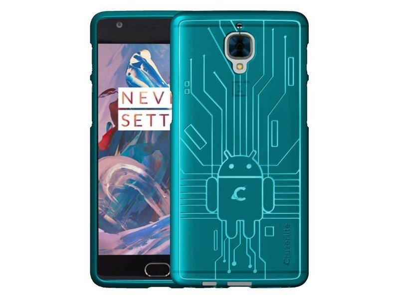 Cruzerlite Bugdroid Case Teal OnePlus 3/3T