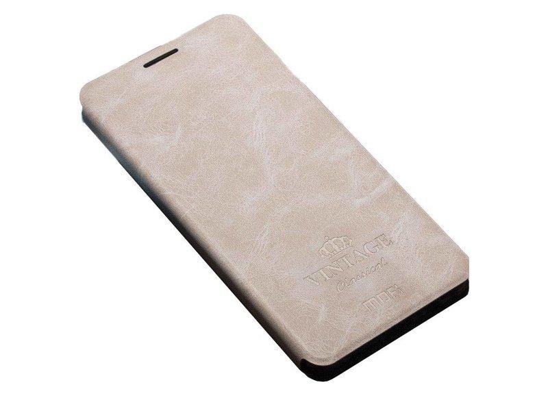 """MOFI Flip Case """"Vintage"""" Weiß OnePlus 3/3T"""