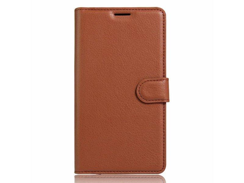 OPPRO Wallet Flip Case Braun OnePlus 3/3T