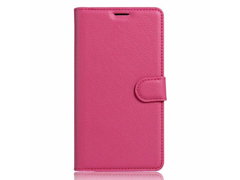OPPRO Wallet Flip Case Dunkelrosa OnePlus 3/3T