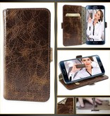 Bouletta Samsung Galaxy S6 Edge Lederen WalletCase Hoesje (Vessel Brown)