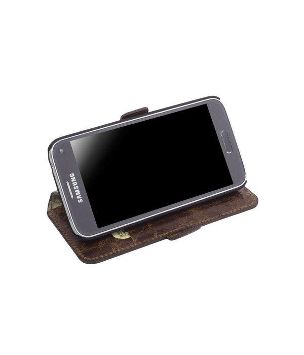 Bouletta Samsung Galaxy S6 Lederen WalletCase Hoesje (Vessel Brown)