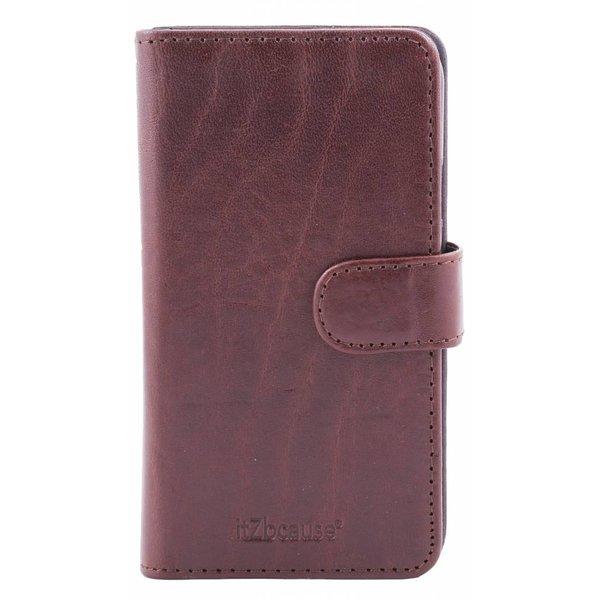 itZbcause Lederen 2 in 1 Walletcase Hoesje voor de Apple iPhone 6 en 6s - Bruin
