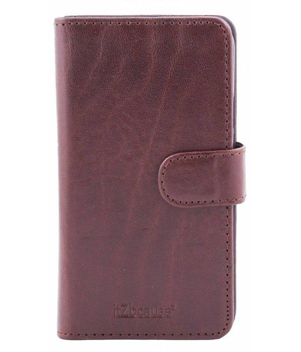itZbcause itZbcause Lederen 2 in 1 Walletcase Hoesje voor de Apple iPhone 6 en 6s - Bruin