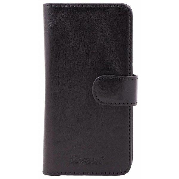 itZbcause Lederen 2 in 1 Walletcase Hoesje voor de Apple iPhone 6 en 6s - Zwart