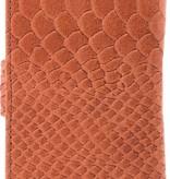 itZbcause itZbcause Snake Bookcase Hoesje voor Samsung Galaxy S6 - Bruin
