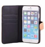 itZbcause itZbcause Stierlederen Bookcase Hoesje voor iPhone 6(S) Plus