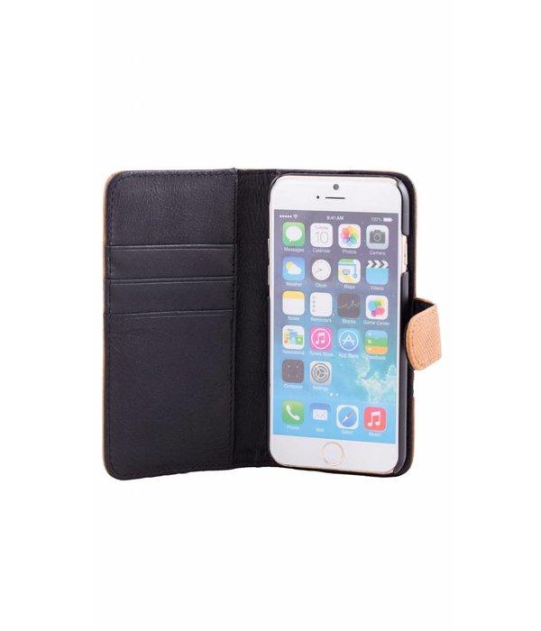 itZbcause itZbcause Stierlederen Magnetic Walletcase Hoesje voor Samsung Galaxy S6 Egde