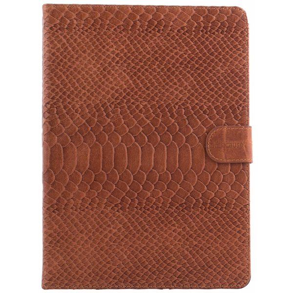 itZbcause Snake Bookcover Hoes voor iPad Air - Cognac