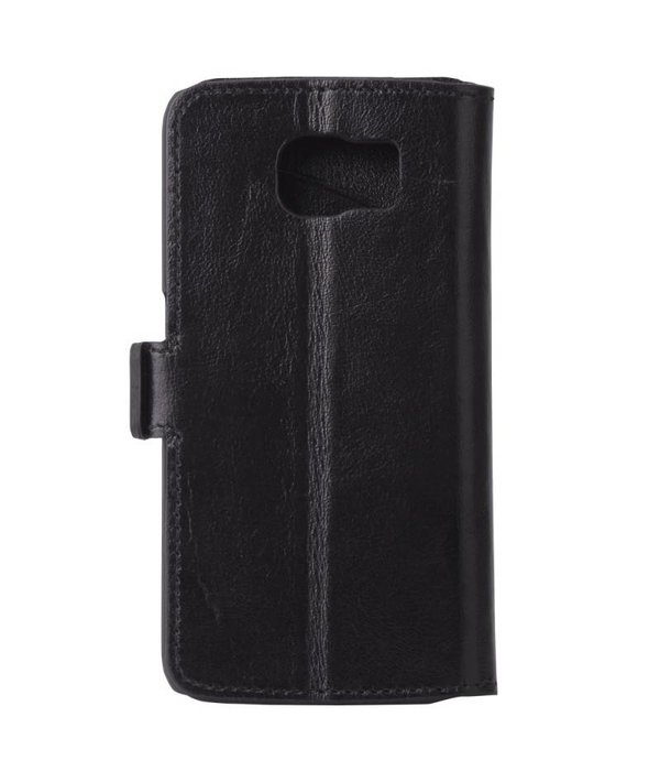 Bouletta Samsung Galaxy S6 Lederen WalletCase Hoesje (Zwart)