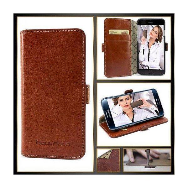 Samsung Galaxy S7 Lederen Walletcase Hoesje (Rustic Cognac)