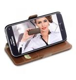 Bouletta Samsung Galaxy S7 Lederen Walletcase Hoesje (Rustic Cognac)
