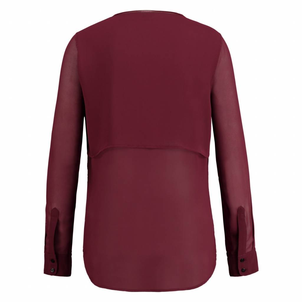 Given Blouse Susan Dark Red