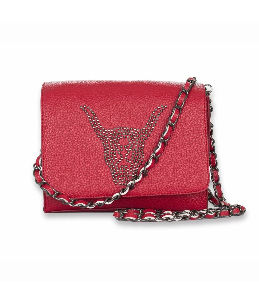 Alix The Label Clutch Bull Red