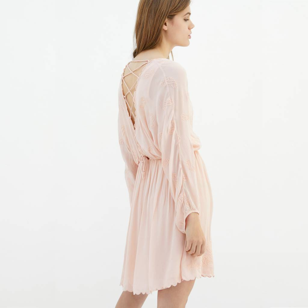 Alix The Label Embroidered dress zwart