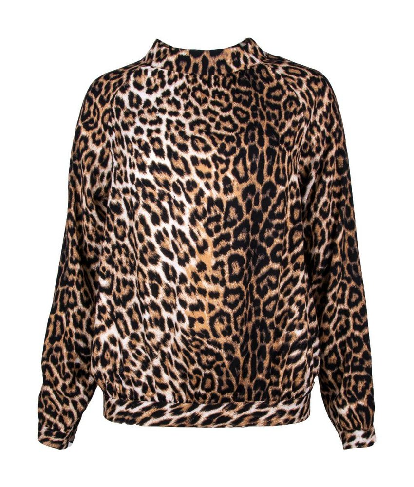 Caddis Fly Minnie blouse met tijgerprint