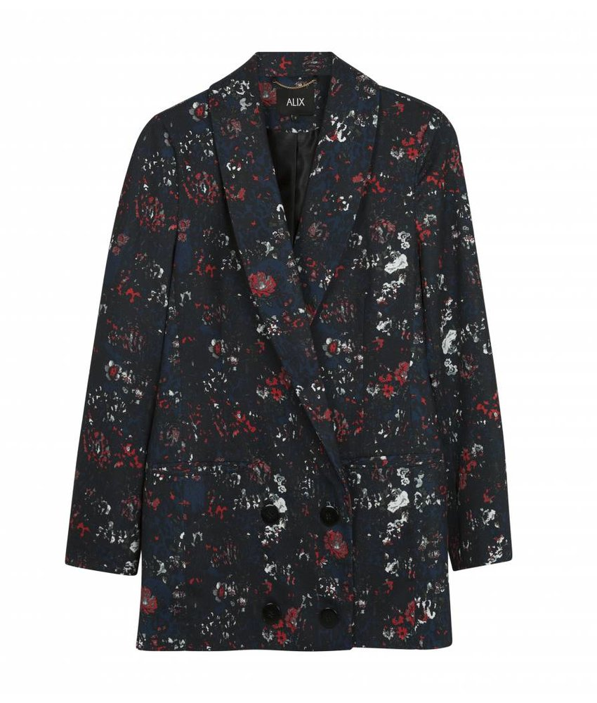 Alix The Label Blazer double breasted flower animal