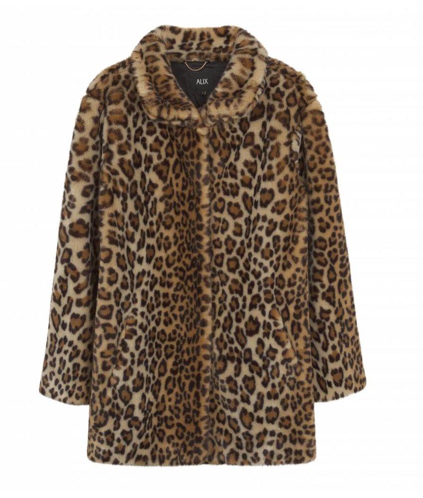Alix The Label Coat animal fake fur
