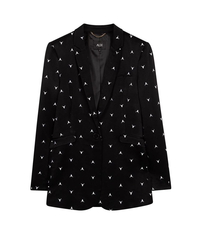 Alix The Label Bull embroidered blazer