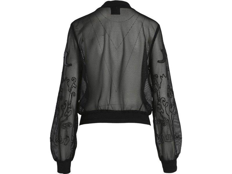 NÜ Denmark Zwart tule jasje met leren details
