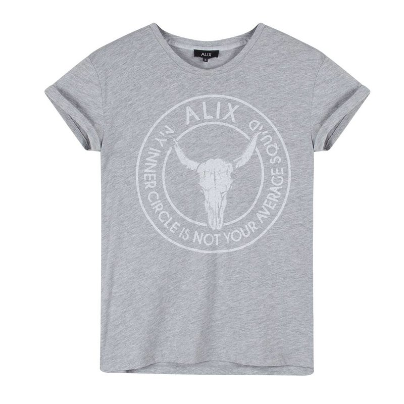 Alix The Label Bull boxy t-shirt (grey melange)