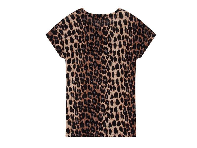 Alix The Label Leopard linen t-shirt bull