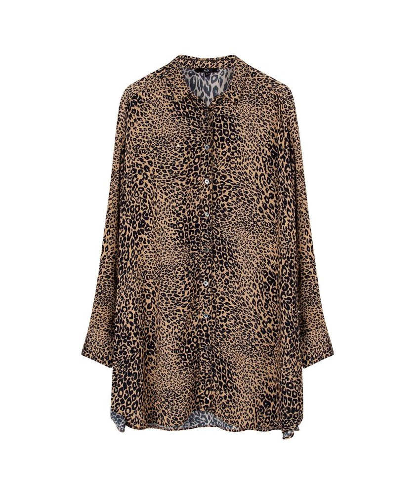 Alix The Label Oversized animal blouse
