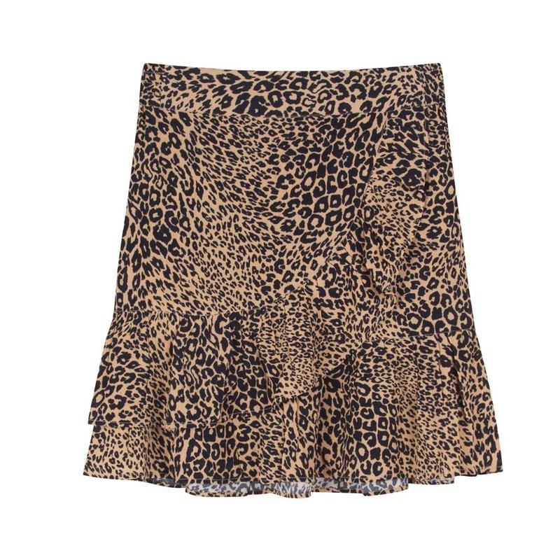 Alix The Label Animal skirt sand