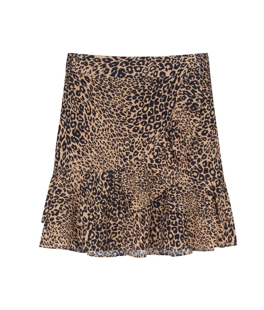 Alix The Label Animal skirt sand