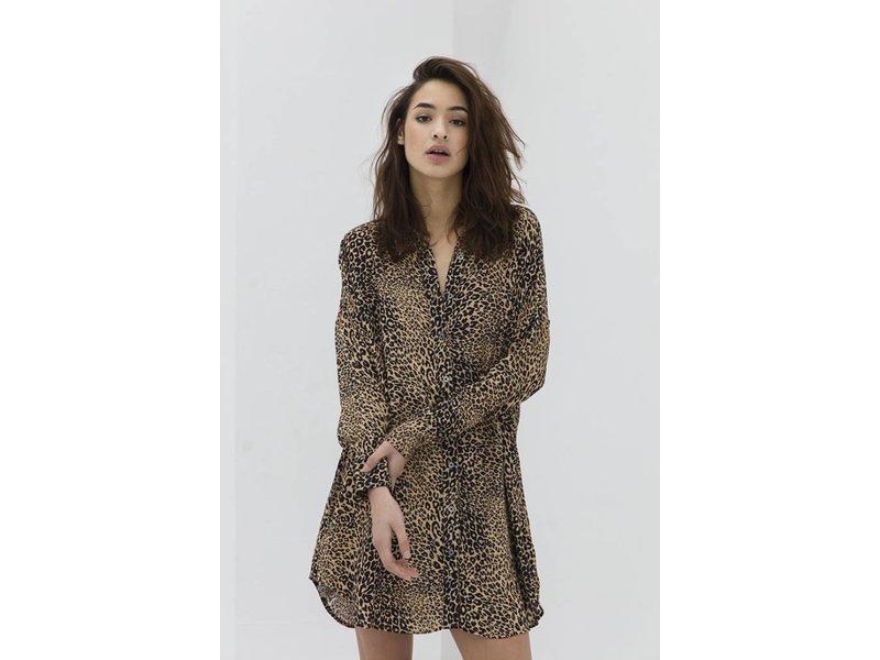 Alix The Label Oversized animal blouse