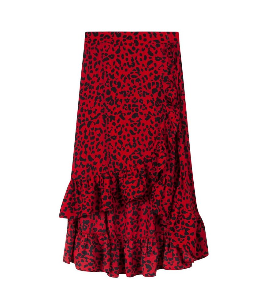 Alix The Label Flowy leopard skirt