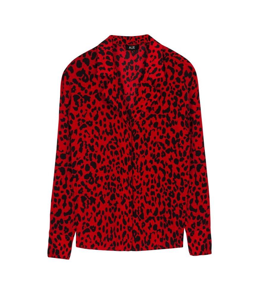 Alix The Label Flowy leopard blouse