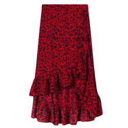 Rode rok met leopard print Alix the label kopen