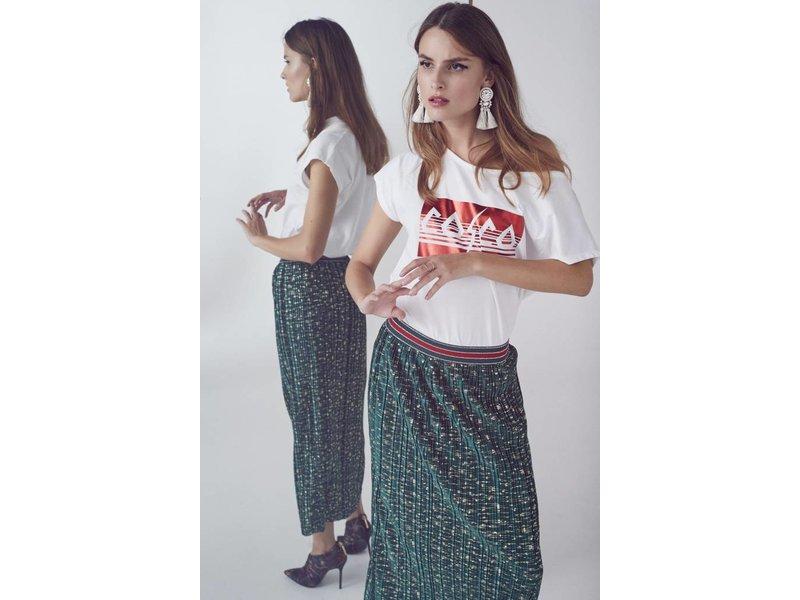 Co'couture Coco metallic tee