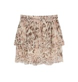 Alix The Label Flowy ruffle animal skirt