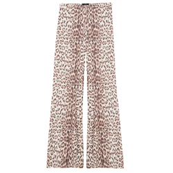 Wijde broek met leopard print Alix the label kopen