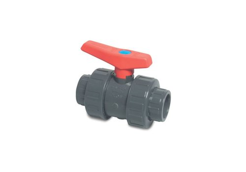 40 mm PVC kogelafsluiter